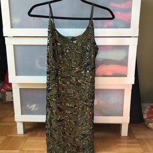 Alice and Olivia Sequinned Party Slip Dress